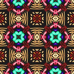 Flower Weave, Maroon, large