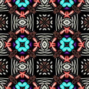 Flower Weave, Brown, large
