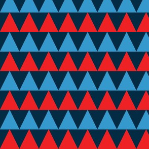 basic triangles | red and blue on blue
