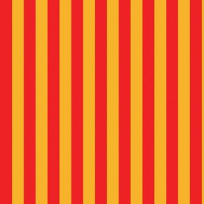 basic stripes | yellow on red