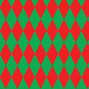 basic diamonds | green on red