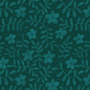 Floral Pattern - Green