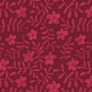 Floral Pattern - Red