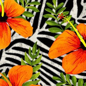 ZEBRA STRIPES  ORANGE GREEN SILVER 40