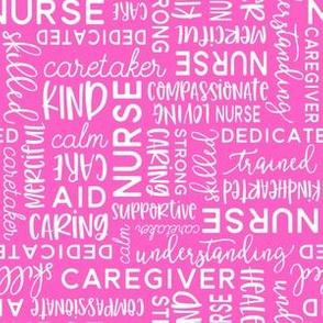 All Things Nurse Nursing Fabric Pink Spoonflower