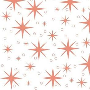 Stardust - salmon/white