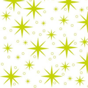 Stardust - lime green/white