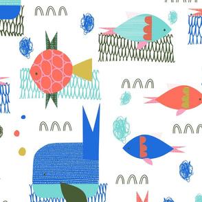 sea sparkle fish - large