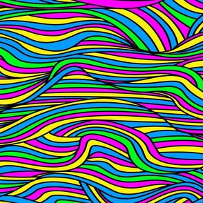 80s / 90s neon waves