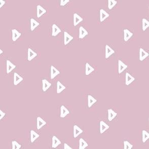 Little inky arrows abstract Scandinavian trend minimal triangles basic nursery pattern mauve lilac