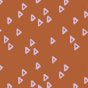 Little inky arrows abstract Scandinavian trend minimal triangles basic nursery pattern lilac rust copper winter