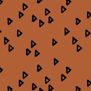 Little inky arrows abstract Scandinavian trend minimal triangles basic nursery pattern black rust copper winter