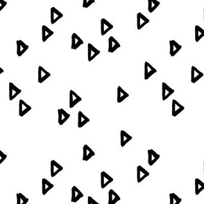 Little inky arrows abstract Scandinavian trend minimal triangles basic nursery pattern black and white monochrome