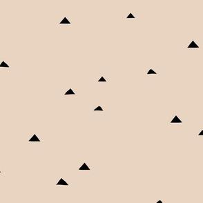 Little inky triangle confetti arrows abstract Scandinavian trend minimal basic nursery pattern neutral beige sand
