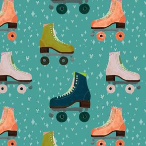 All skates slowly