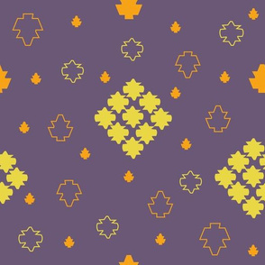 Purple Jamdani/ Ethnic Pattern