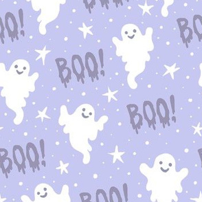 Boo! Ghosts on Pale Blue