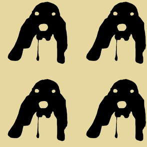 Drooling Basset Hound Silhouette