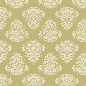 symetric damask | cream olive