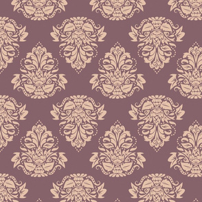 symetric damask | rose mauve