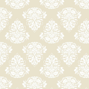 symetric damask | white cream