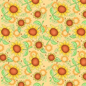 Sunflower Yellow Scattered Toss small