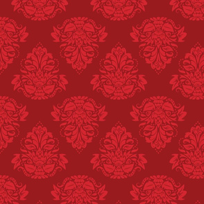 symetric damask | red deep red