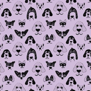 Little pups and dogs friends pet lovers design lilac lavender purple SMALL