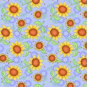 Sunflower Lavender Scattered Toss small