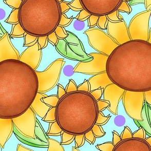 Sunflower packed turquoise Large