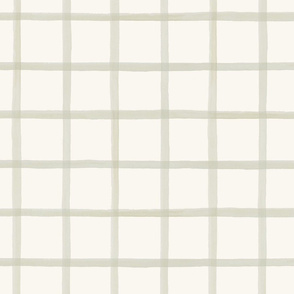 Wide Painted Putty on Cream Grid