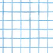 Wide Painted Blue Grid