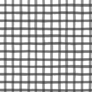 Painted charcoal grid