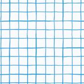 Watercolor Grid Santorini on White