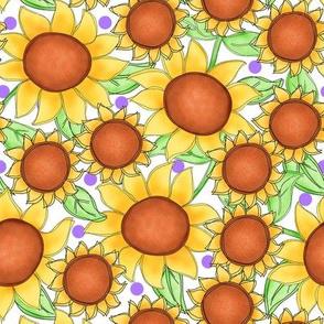 Sunflower packed White Medium