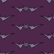 LAVENDER BATS ON PURPLE
