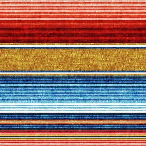 serape southwest stripes - blue/red/gold  - LAD20