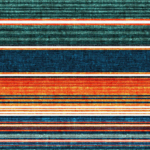 serape southwest stripes - orange/teal  - LAD20