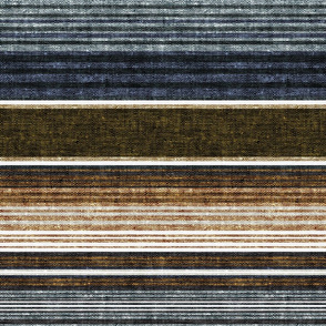 serape southwest stripes - earth blue/grey/green  - LAD20