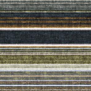 serape southwest stripes - earth blue2/grey/green  - LAD20