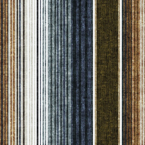 serape southwest stripes - earth blue/grey/green (90)  - LAD20
