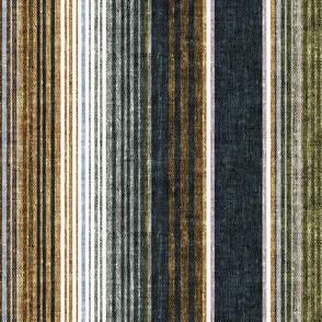 serape southwest stripes - earth blue2/grey/green (90) - LAD20