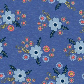 Blue Flowers on Blue