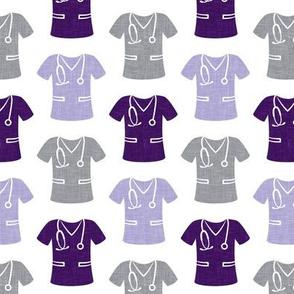 scrubs - nursing/nurse - purple/grey - LAD20