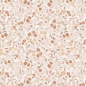 Ditsy Floral - earth multi