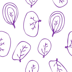 Greeny Sketch Leaf Seamless Pattern