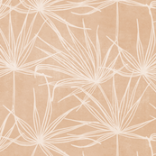 JUMBO fan palms on sandy beige