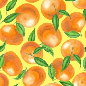 Watercolor tangerines 2