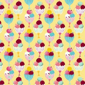 ice cream cups yellow