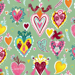 valentine hearts mint